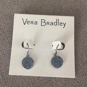 Vera Bradley pave disc drop earrings